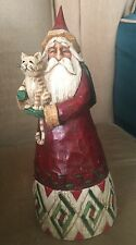 2002 JIM SHORE SANTA HOLDING CAT BY  ENESCO HEARTWOOD CREEK