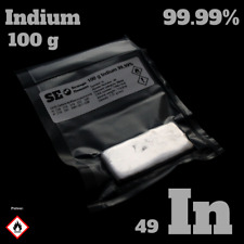100 g Indium metal - Indium Barren 99,99% - In 49 Metall - CAS 7440-74-6