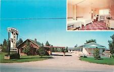 Gaylord Michigan~Cedars Motel And Cabins~Dial Telephone~TV on Stand 1950s PC
