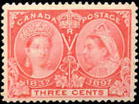 Canada Mint H F+ Scott #53 3c 1897 Diamond Jubilee Stamp