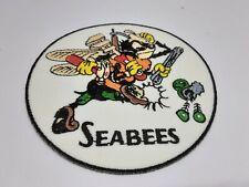 patch ecusson thermocollant brodé 9cm  seabees débarquement