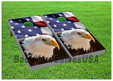 Cornhole American Eagle Boards BEANBAG TOSS GAME w Bags Set