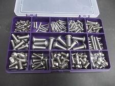 Boîte d'assortiment de 220 douille bouton tête boulons. inoxydable A2. M3, M4, M5, M6 & M8