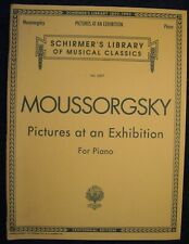 Moussorgsky Pictures At An Exhibition For Piano-Schirmer Vol. 2007 Nos-4Qsmc