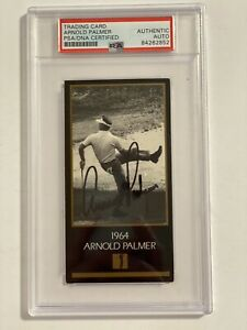 Arnold Palmer PSA Slabbed CHAMPIONS OF GOLF SIGNED AUTO CARD MASTERS Winner