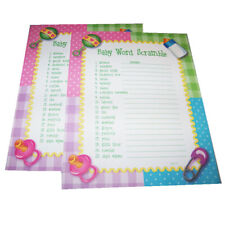 Baby Word Scramble Baby Shower Games (24) Activity Sheets Word Games