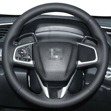 Leather Steering Wheel Cover Stitch on Wrap for 10th Honda Civic 2016-2019 /CR-V