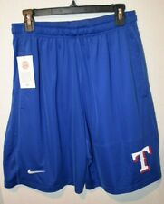 Nike Texas Rangers Baseball Dri-Fit Royal Blue Shorts Size Men's Medium
