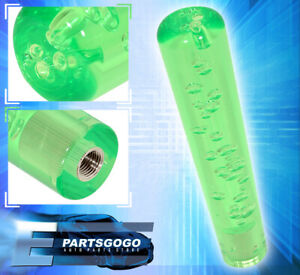 For Chevy 200mm Bubble Extended Shift Knob Track M8 M10 M12 Adapter Kit Green