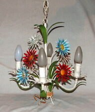 Metal french antique chandeliers ebay tole chandelier vintage french flowers mozeypictures Image collections