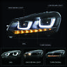 LED U-Bar Projector Headlights with Sequential for 2010-2013 Golf 6 MK6 GTI