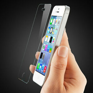 TEMPERED GLASS SCREEN PROTECTOR LCD GUARD FILM FOR APPLE IPHONE 5 5S & 5C