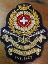 RALPH LAUREN GOLD WIRED MILITARY ARMY STYLE BADGE NEW BLAZER BADGE LAUREN