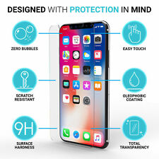 for iPhone X Genuine Tempered Glass Screen Protector Film Guard Protection