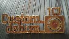 Chevy Customer Deluxe 10 OEM Emblem Logo Badge (#6455)