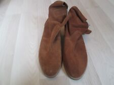 BODEN SMART TAN  100% SUEDE CASUAL FLAT ANKLE BOOTS SIZE 40---6.5 (SHU37)-