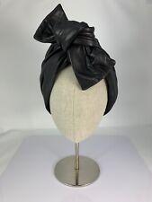 NWT Kokin, Black Nappa Leather Twistee Turban, Hair Accessory