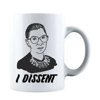 I Dissent Motorious RBG Double-Sided Ceramic Coffee Mug Tea Cup