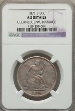 1871-S SEATED LIBERTY HALF DOLLAR - NGC AU Details - 50C