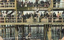 1907 Hauling In The Net, Fishing, Atlantic City, New Jersey Postcard