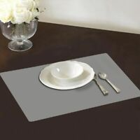 4Pcs Clear Transparent Placemat Kitchen Tableware Place Mat Pads Plastic /AU