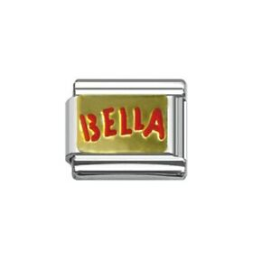 9mm Italian Charm  E25 Beautiful Italian Bella Fits Classic Size Bracelet