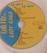 Karaoke CDG Disque Lady Ga Ga 1 disques 18 de son top hits