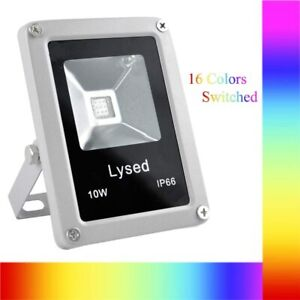 Lysed 10W RGB Waterproof Low Voltage Remote Control Garden Outdoor Spotlight