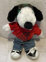 "Plush Snoopy Joe Cool Peanuts Build A Bear Flying Ace Plush 16"" EUC"
