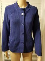 Talbots Womens Cardigan Sweater Size Medium petite Button Down Top