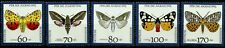 GERMANY, BUTTERFLIES, COMPLETE WELFARE SET OF 5, YEAR 1992, MNH