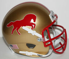 USFL Birmingham Stallions Custom Mini Helmet with Metal Face Mask