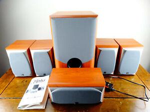 Harman Infinity Alpha 5 Home Cinema Surround Sound Satellite Speakers & Sub Amp