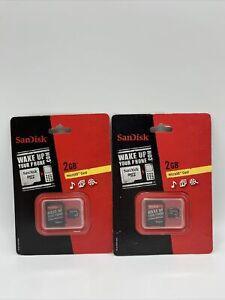 Sandisk Micro Secure Digital Card 2gb W/adaptor New in Package Lot Of 2!