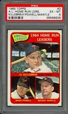 1965 Topps AL Home Run Leaders (Mickey Mantle) #3 - PSA 6 - EX-MT