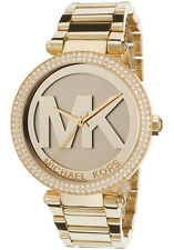 Michael Kors MK5784 Womens Parker Gold Dial Gold Steel Bracelet Glitz Watch