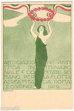 POSTCARD ITALIAN BIANCHI ART NOUVEAU 1912 AVIATION
