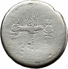 MARK ANTONY & CLEOPATRA Legion Ship Augustus Ancient Silver Roman Coin i39138