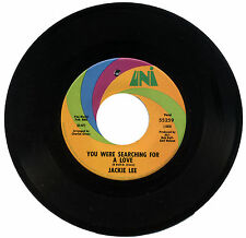 """JACKIE LEE  """"YOU WERE SEARCHING FOR A LOVE c/w YOUR SWEETNESS IS MY...""""  LISTEN!"""