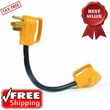 Camco RV Dogbone Dog Bone 50 Amp To 30 Electric Adapter Plug Outlet Campers Camp