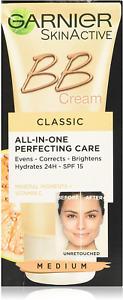 Garnier BB Cream Original Medium Tinted Moisturiser SPF 15, Glow Boosting and C