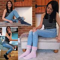 Femme fantaisie hiver chaudes laine chaussettes de lit LTOWS