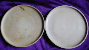 """2x Sycamore Plates 10"""" Hand Crafted Wood Madein Wales Chopping Serving Tray Dish"""