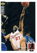 "Elmore Spencer autograph signed UPPER DECK trading card 2.5""x3.5"" basketball NBA"