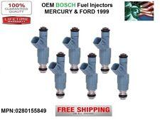 1999 Mercury Sable Ford Taurus 3.0L V6/ SET OF 6  Reman OEM Bosch Fuel Injectors