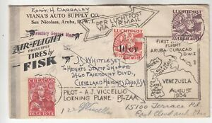 Curacao First Flight Cover