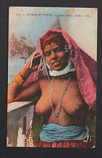 ETHNIQUE / JEUNE FEMME buste avec Voilage rouge / TYPE ARABE