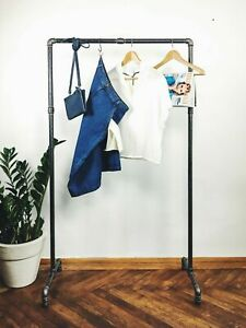 Industrial Style Metal Clothes Rail Rack Stand Retro Vintage Garment shopdisplay