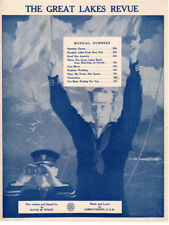 GOODBYE AMERICA Sheet Music-1918-GREAT LAKES REVUE-ILLINOIS NAVY RELIEF SOCIETY