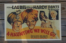A Haunting we will go Movie Lobby Card Stan Laurel Oliver Hardy